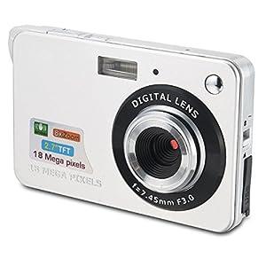 Aberg Best 18 mega pixels HD Digital Camera - Digital video camera - Students cameras - Students Camcorder - Handheld Sized Digital Camcorder Indoor Outdoor for Adult /Seniors / Teens / Unisex Children / Kids (silver)