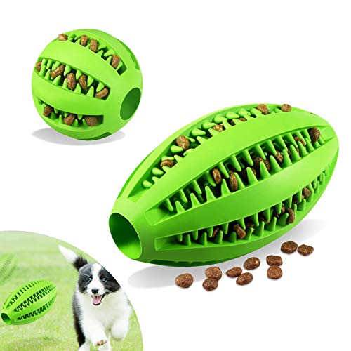 Cane Giocattolo Palla 2 Pcs, Foonii Dog Toy Ball, Cani Adatto Cani Grandi e Piccoli, Palla di Gomma Natural per Dentizione Cura e Formazione alimentatore dente pulizia palla (Grandi 12cm; Piccoli 5cm)