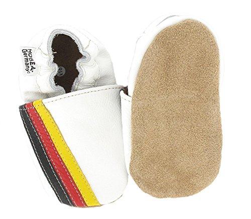 Hobea-Germany - Krabbelschuhe Flagge, Pantofole per bimbi bianco (weiß)