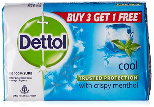 Dettol cool soap 125g (Buy 3+Get 1 free of 125g cool soap)