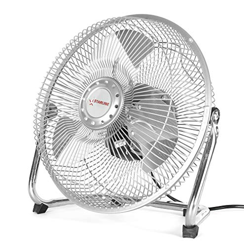 Starline Ventilateur de Sol et Table Pales metalicas 9 38 W, 3 Vitesses de Air