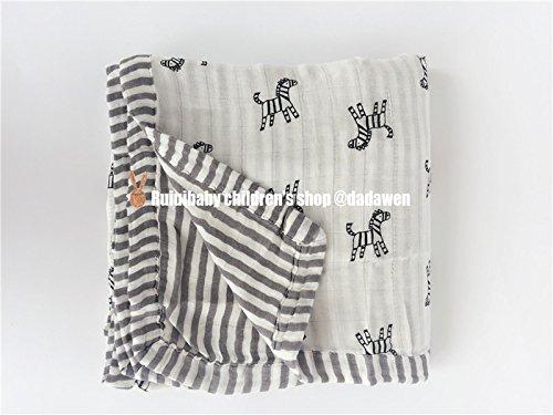 Bambusfaser Handtuch wickeln Mull quilt Baby liefert, Zebra (4 Schichten) (Rosa Und Zebra-baby-dusche)