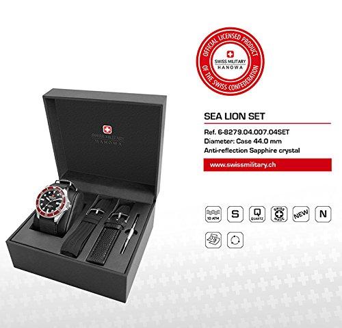 SWISS MILITARY-HANOWA Herren Analog Quarz Uhr mit Nylon Armband 06-8279.04.007.04SET