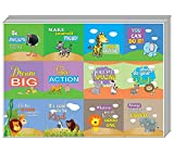 Best Decals for the Wall Teen Books For Girls - Creanoso Safari Animals Motivational Stickers (10-Sheet) û Assorted Review