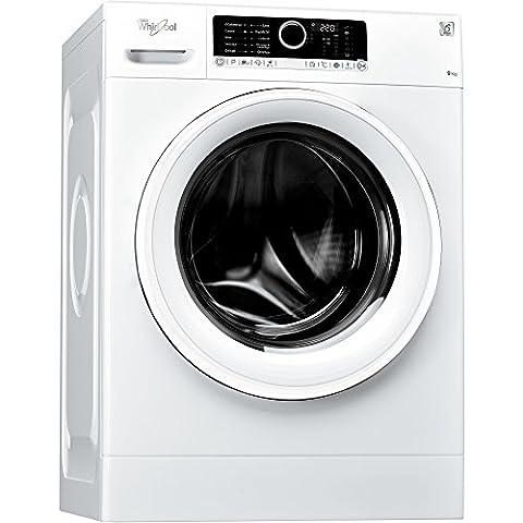 Whirlpool FSCR90210 Autonome Charge avant 9kg 1200tr/min A+++-30% Blanc machine à laver - machines à laver (Autonome, Charge avant, Blanc, Gauche, LCD, Acier inoxydable)