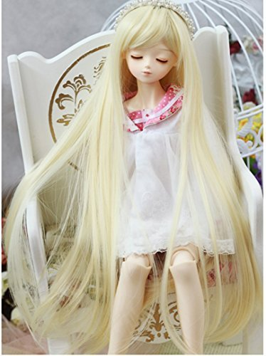 The Doll Perücke lange Gerade wählen drei Farb etwa 8-9 Zoll (c blonde)