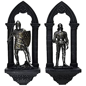Design Toscano CL955951 Knights of the Realm 3-Dimensional Wall Sculpture - Sir Gavin and Sir Samuel