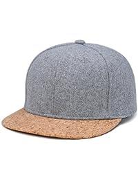 LvLoFit Corcho Peak Hip Pop Gorra Baseball Respirable 100% Algodón de Lana  3 Capas Sudadera Absorbente Snapback Cap para Deportes… af1883fb459