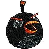 Parches - Angry Birds Comc niños - negro - 6,9x5,3cm - termoadhesivos bordados aplique para ropa