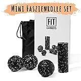 Faszientraining Set mit Mini Faszienrolle, 8cm Duoball & 8cm Faszienball – Faszienset zur effektiven Faszien & Triggerpunkt Behandlung – punktuelle Trigger Point Massage inkl. Startguide