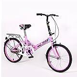XQ- 1620URE 20 Zoll Faltrad Einzel Geschwindigkeit Fahrrad Männer Und Frauen Fahrrad Erwachsene kinder Fahrrad ( Farbe : Pink )