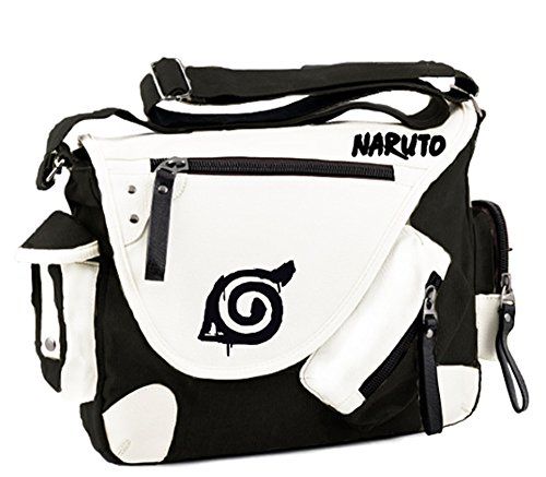 Siawasey anime giapponese Cosplay borsa Satchel zaino messenger bag borsa a tracolla nero One-Punch Man2 Naruto2