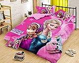 Cairo Kids Cartoon Print Comforter Set, Frozen Kids Design, Bedsheet & Pillow Covers, Attractive Gift Pack