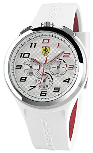 Scuderia Ferrari 830102 – Wristwatch men's, silicone strap Integrated White (White)