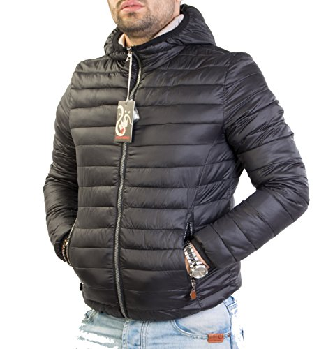 giubbino-piumino-antony-morale-uomo-100-grammi-con-cappuccio-full-zip-art6368-m-48-nero