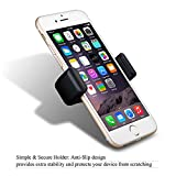 Phone Holder, Mpow 360 Degree Swivel Car Mount Premium E-Clip Air Vent Phone Mount Car Phone Holder Car Cradle One Step Mounting for iPhone 7 7 Plus 6S 6 5S 5C SE, Samsung S6 S5 Note 5 4, LG, Sony, Huawei and Other Smartphone Bild 5