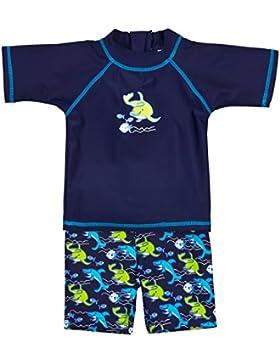 Landora®: Baby- / Kleinkinder-Badebekleidung 2er Set mit UV-Schutz 50+ und Oeko-Tex 100 Zertifizierung in blau...