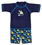 Landora Baby-/Kleinkinder-Badebekleidung 2er Set mit UV-Schutz 50+ und Oeko-Tex 100 Zertifizierung in blau; Größe 110/116