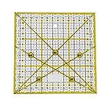 Fai da te Quilting Righello Cucito Righello Quadrato Patchwork Righello Strumenti di cucito multifunzionali per cucire sartoria modello Disegno modello di disegno, multiuso Taglio Righello 15 15 CM