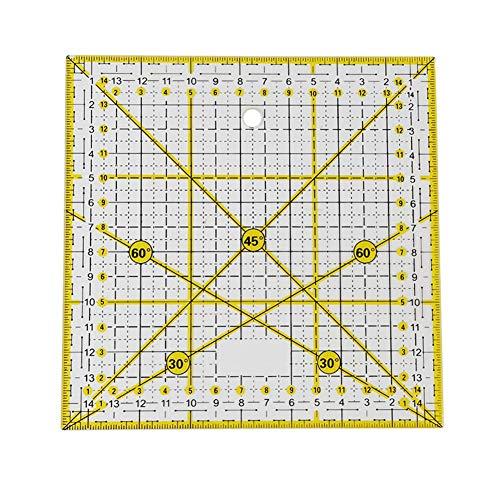 Calisip quadrato forma di acrilico quilting righello righello universale 15 cm x 15 cm per patchwork, sartoria, fai da te