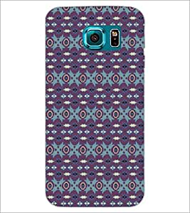PrintDhaba Pattern D-5258 Back Case Cover for SAMSUNG GALAXY S6 EDGE (Multi-Coloured)