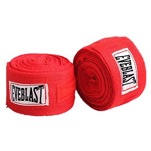 Thai-baumwoll-wrap (Morza 2 Rolls 3M Boxbandagen Cotton Sport-Bügel-Boxen Verband Sanda Muay Thai Taekwondo Handschuhe Wraps)