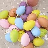 #9: Climberty 10 Pcs Colorful Plastic Fake Eggs Easter Eggs
