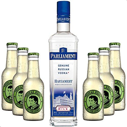 Vodka-Lemon-Set-Parliament-Vodka-70cl-40-Vol-6x-Thomas-Henry-Bitter-Lemon-200ml