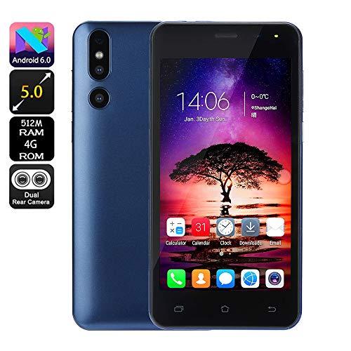bescita Günstiges Smartphone Android 6.0 4G ROM(32GB Erweiterbar) Dual SIM Handy 5.0 Zoll, Doppel Kameras Quick Charge IPS-Bildschirm GSM/WCDMA-Touchscreen WiFi Bluetooth GPS Handy (Blue) - Video-motherboard-reparatur