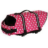 Suyi Giubbotto di salvataggio per cuccioli di cane, riflettente, cappotto con cintura regolabile standard di chiusura, rosa blu giallo, taglia XS S M L XL