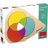 Goula - Chromatic Puzzle, juguete para bebé, color azul, rojo y amarillo (Diset 55240)