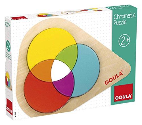 Goula Chromatic Puzzle, Juguete para bebé, Color Azul, Rojo y Amarillo (Diset 55240)