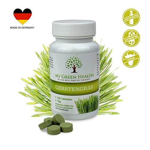 Superfood Gerstengras Tabletten | Vitamin C, Calcium, Zink | viele Vitamine und Mineralstoffe | vegan | Made in Germany