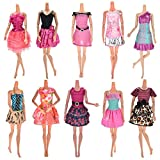 Toy - CoscosX 10Pieces Dresses for Barbie Doll, Fashion Party Dresses Clothes Gown For Barbie Dolls Girls