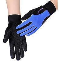 IKuaFly Inverno Gloves Touch Screen Crossfit Guanti Windstopper Cislismo Moto Bike Snowboard Running - Black Blu Colore Uomini Donne (blu, L) - Moto Graphic Design