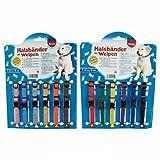 6er Set Welpenhalsband Welpenhalsbänder für Züchter Gr. 1