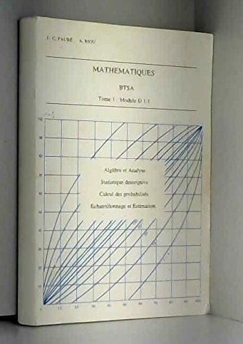 Mathématiques, BTSA