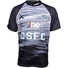 X Cronulla tiburones cuchillas de 2015 NRL Pantalones de entrenamiento para hombre camiseta de manga corta camiseta para hombre