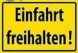 Einfahrt freihalten ! Blechschild Schild Blech Metall Metal Tin Sign 20 x 30 cm