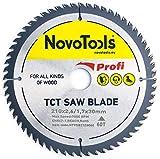 NOVOTOOLS Lama per sega circolare 250 x 30 mm, 60 denti per legno per Festool, Dewalt, Bosch, Makita, ecc. Alta Qualità