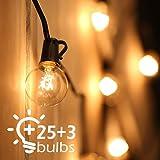 Tomshine Catene Luminose,25ft (7.6Metri) Illuminazione Giardino Luci Stringa Lampadina con 25 G40 Bulbi(3 lampadine di ricamb