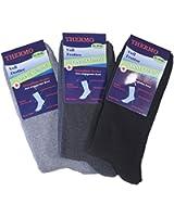 3er Pack oder 6er Pack Herren Gesundheits-Socken Thermo, Frottee mit Elasthan, ohne Gummi, Gr. 39-42 und 43-46