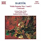 Bartok: Violin Sonatas Nos. 1 and 2 / Contrasts