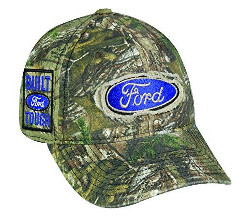 Realtree 6 Panel Ford Logo Cap, Camo - 6-panel-ball-cap