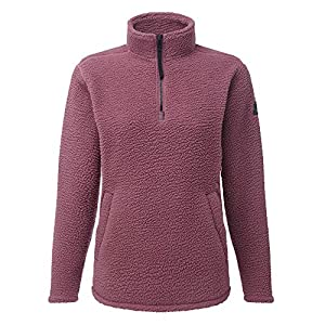 51yVrag9iIL. SS300  - Tog24 Moira Womens Sherpa 1/4 Zip Deep Pile Winter Fleece Top with Pocket