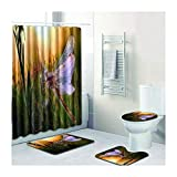 Knbob Badvorleger Set 4Tlg Insekt Stil 12 Wc Teppich Toilette 45X75Cm