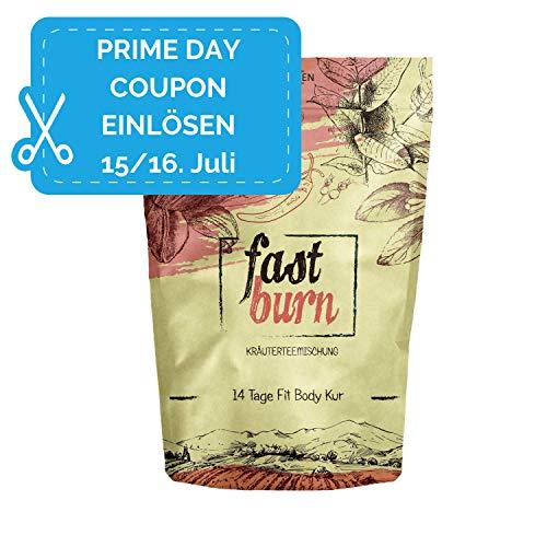 Fast Burn - schnell und wirksam - 14 Tage Body Detox Tee Kur - 100% natürliche Kräuterteemischung...
