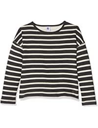 Petit Bateau Girl's Mariniere Cit/Co Long Sleeve Top