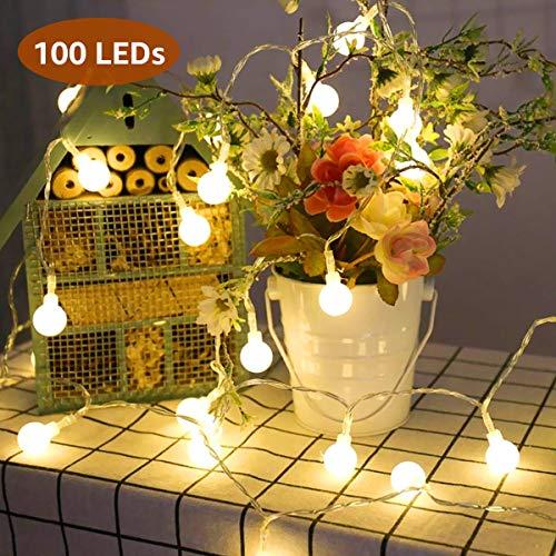 LE 10m 100 LED Cadena Luces Blanco Cálido 3000K Guirnalda
