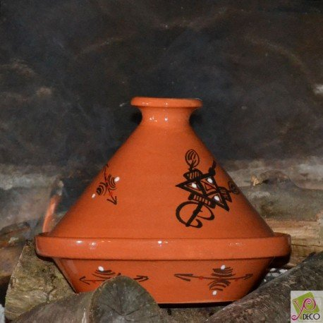 Tajine en terre cuite traditionnel - D 23 cm